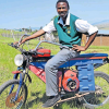 Pupil Makes Himself A Motorbike From Scrap Material