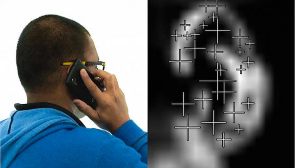 No unauthorized access! Bodyprint ear and hand sensor phone