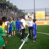 Shell unveils first African solar-powered football pitch