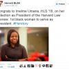 Harvard elects its first black female president